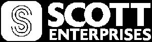 Scott Enterprises' company logo in white and transparent.